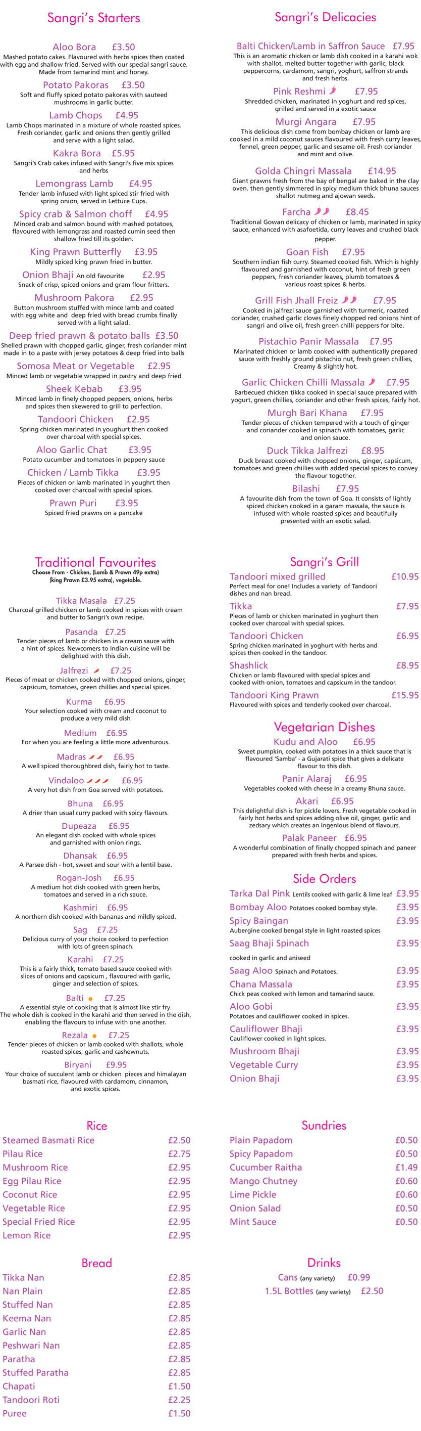Sangri Indian Restaurant Croydon India Restaurant